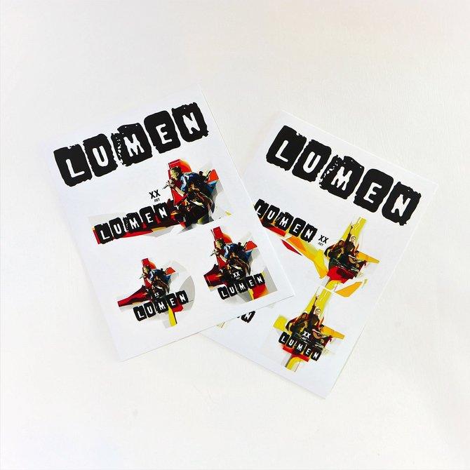 Lumen: набор из двух стикеров «XX лет»