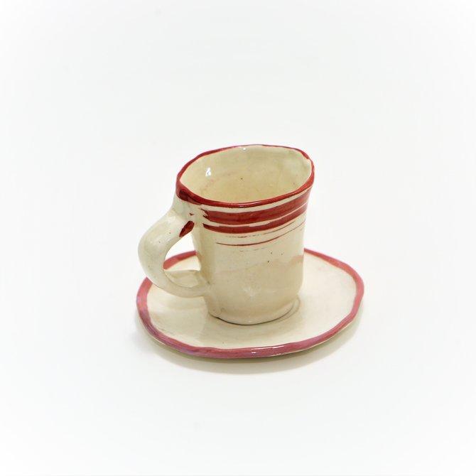 """Чашка кофейная с блюдцем. Ручная работа особых мастеров мастерской """"Простые вещи""""."""